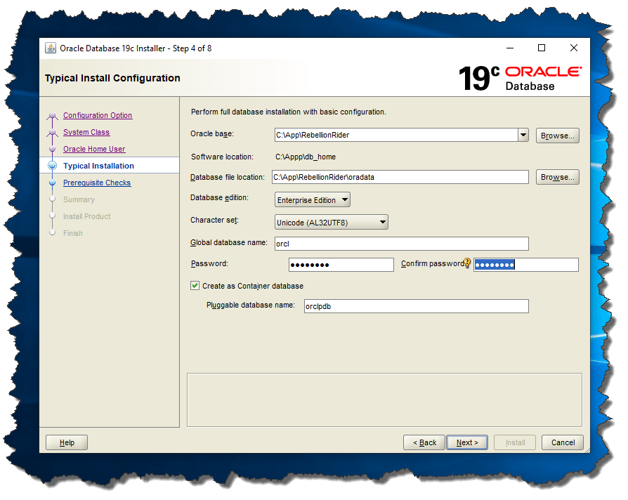 Oracle 18 Linux Install