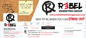 Rebel Marketing Group Twitter page