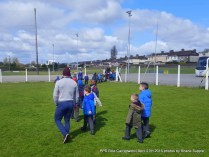 Carrigtwohill BNS jnr & snr Infants watching the games