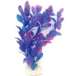 PP006Q Plastic Plant Medium Tear Shape Leaf Purple 200mm at Rebel Pets