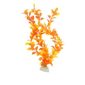 Plastic Plant Medium Tear Shape Leaf Orange 305mm