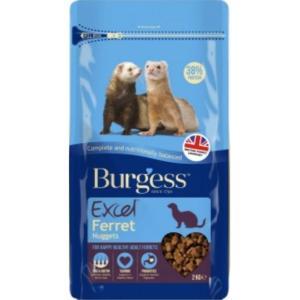 FP10040CC4 Burgess Excel Ferret Nuggets 2kg at Rebel Pets