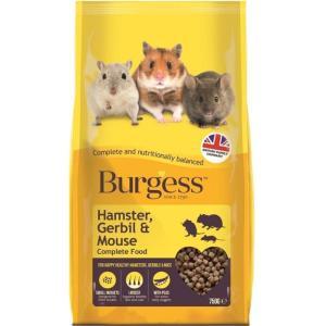 FP90420CL3 Burgess Hamster Gerbil n Mouse Food 750g at Rebel Pets