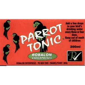 B2170 Parrot Tonic Label at Rebel Pets