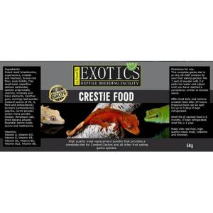 Ultimate Exotics Crestie Food label at Rebel Pets