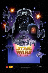 Star Wars Celebration 2015 exclusive LEGO The Empire Strikes Back poster