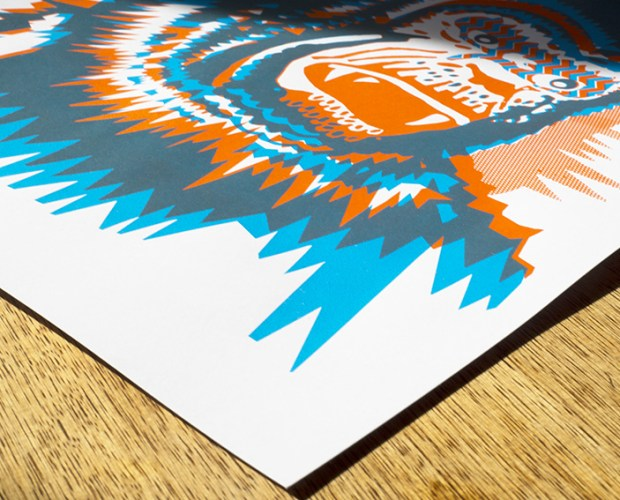 Rebel Unlit - APE - A two colour screen print on paper - Print with ape design inspired by king kong and the apes of vintage comic books - Hand printed in Berlin