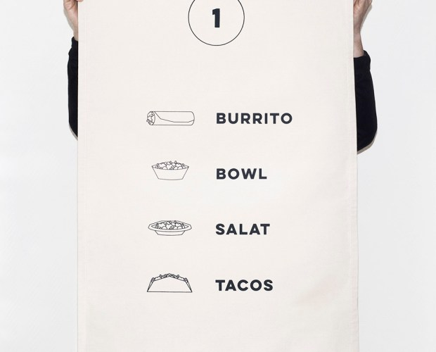 hand printed menu signage for chupenga east side gallery berlin. Hand screen printed signs on canvas