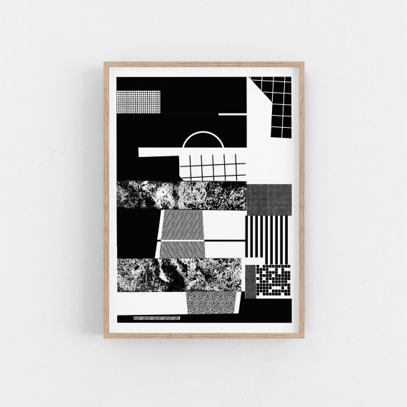 One colour screen print on 300g paper. Minimal bauhaus wall art from Rebel Unlit Berlin.