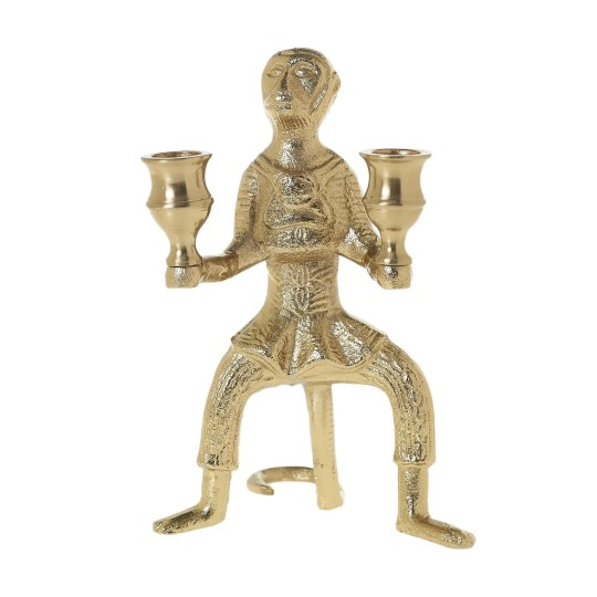 gold monkey candle holder