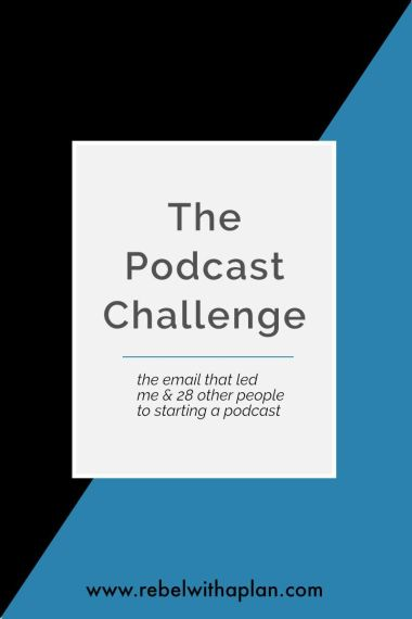 I took park in Paul Jarvis' podcast challenge to create and launch a podcast.