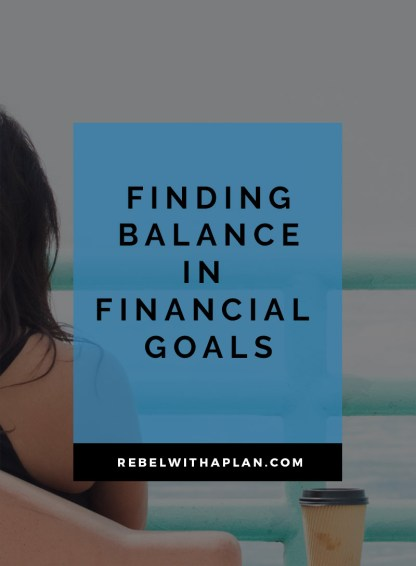 Balancing living life and meeting your financial goals can be tough. It's all about finding balance and leveling things out and figuring what's most important to you and your future self. Click through to read more.