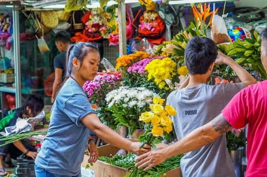 flower shop in Chinatown
