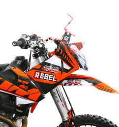 ktm exc 2017 18 19 rally kit rebel x sports srl [ 886 x 1000 Pixel ]
