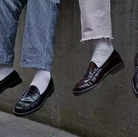 Weejuns Pennyloafern von G. H. Bass mit bunten Socken
