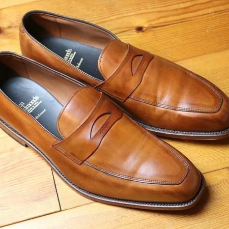 Edler Pennyloafer von Allen Edmonds Größe 10,5 für breite Fußform, Weite 3E, als Einzelstück in Farbe Walnuß