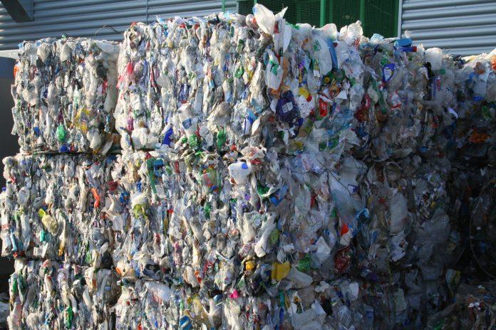 Plastic bottle bales PET