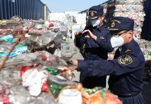 China recycling inspections