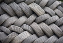 Recycled rubber tyres