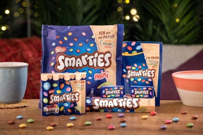 Nestlé Smarties in paper packaging