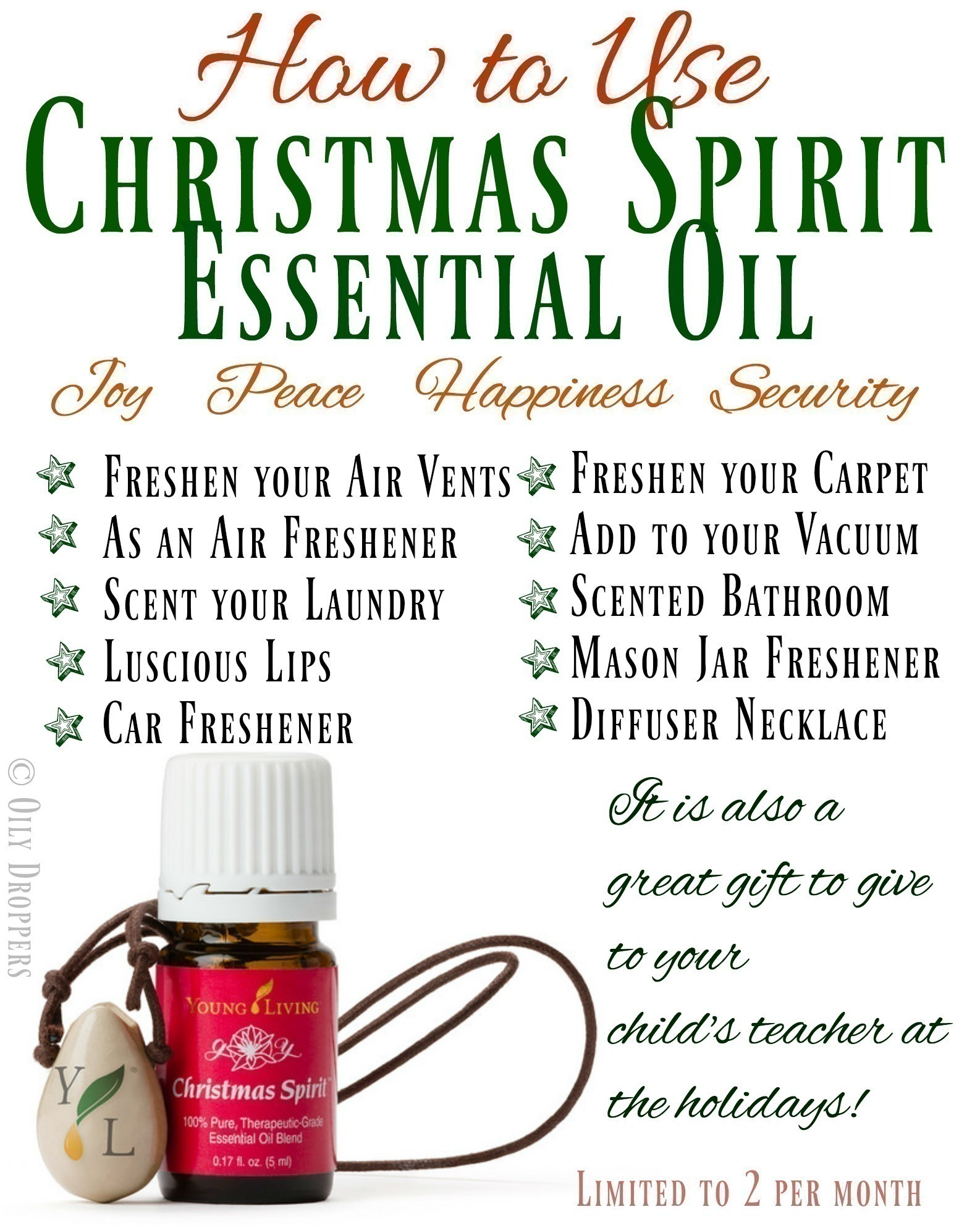 how to use christmas spirit essential oil - Young Living Christmas Spirit