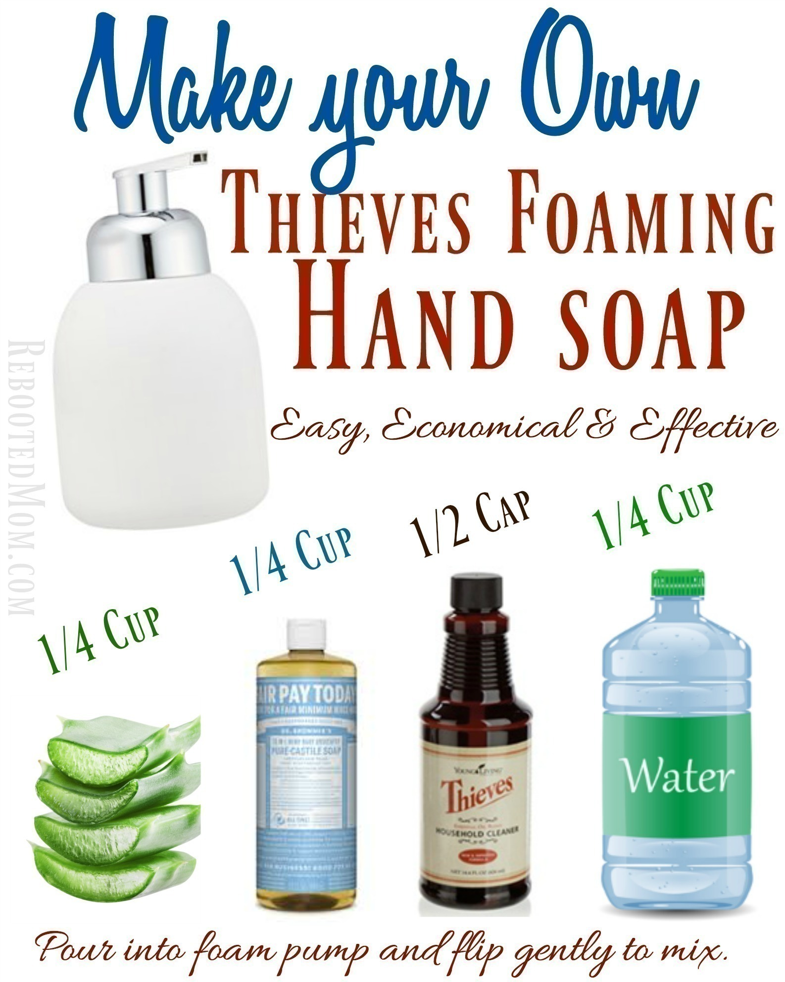 Make your Own Thieves Foaming Hand Soap - Rebooted Mom