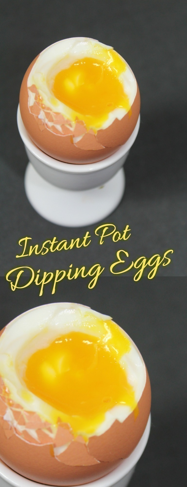 Soft Cooked Dipping Eggs are so easy to make in the Instant Pot - just 2 minutes & they are perfect with slices of toast!