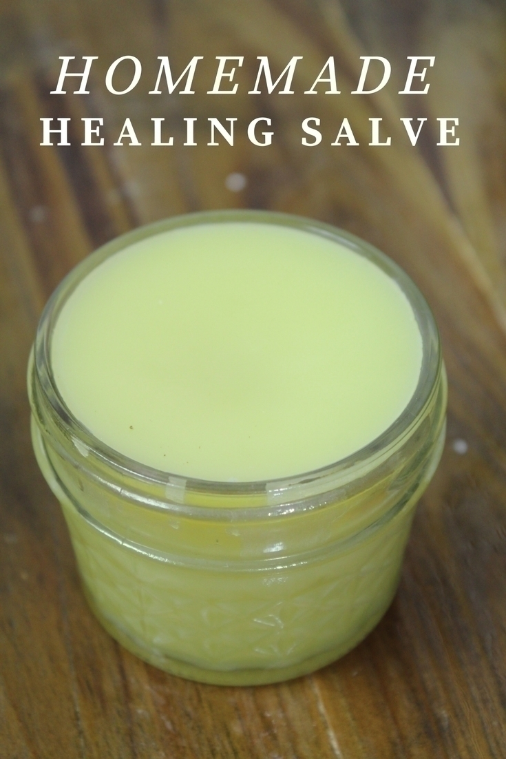 This homemade healing salve requires a few simple ingredients & is perfect for cuts, scrapes, burns, and times when your skin needs an extra little help.