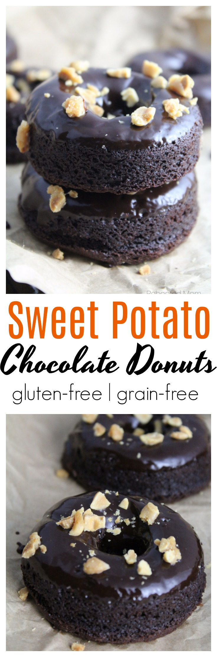 Sweet potatoes are combined with chocolate in these decadent Sweet Potato Chocolate Donuts that are gluten-free, grain-free and easily adapted to be dairy-free!
