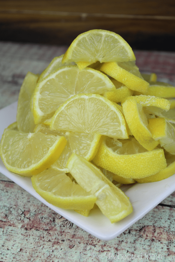 A wonderful way to use an abundance of lemons ~ this lacto-fermented lemon recipe is a little spicy and a little sweet! #lemons #lactoferment #ferment #guthealth