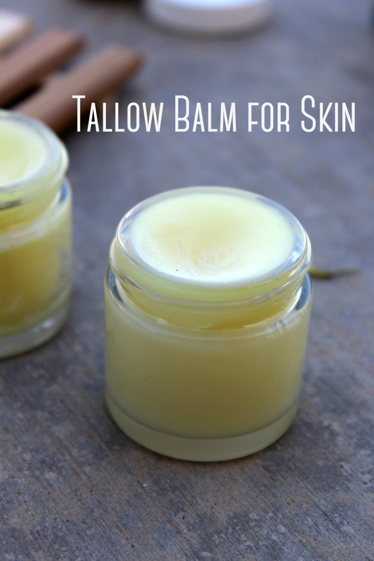 Tallow balm is a whole body, natural skincare for hands, face, feet and body. Rich in vitamins A, D, K, E and omega 3's, it provides soothing skin relief naturally.  #tallow #tallowbalm #skincare #beauty
