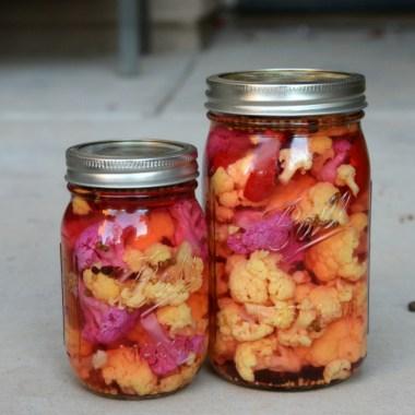 Purple and Orange Pickled Cauliflower Recipe