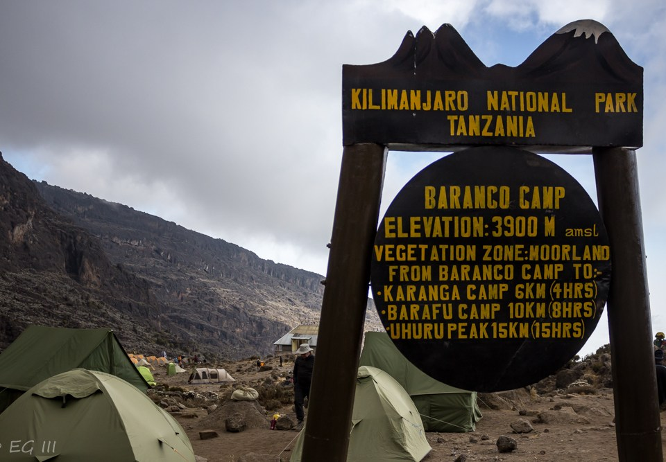 Kilimanjaro day four: Baranco Camp