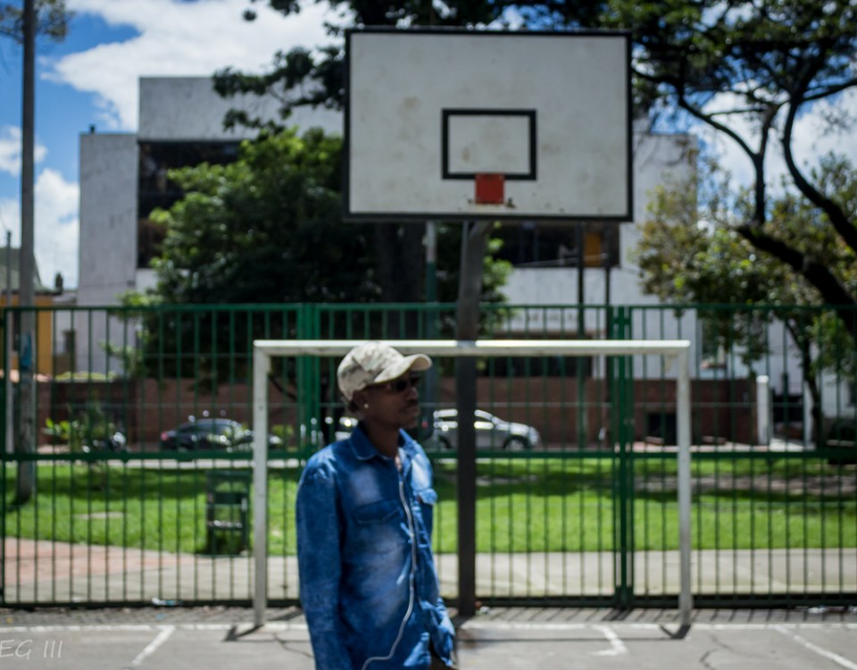 Young Black Man in park