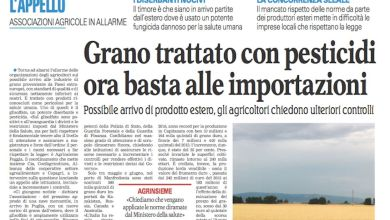 "Photo of Cia e la battaglia del grano: ""Non molliamo di un centimetro"""
