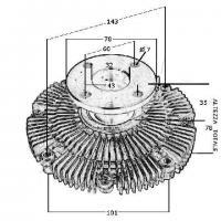 Viscoso ventilador radiador Patrol 2.8 21082-22J00