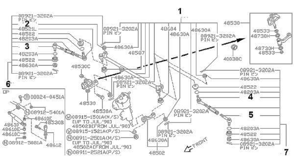Rótula dirección interior Terrano I 48570-61G25