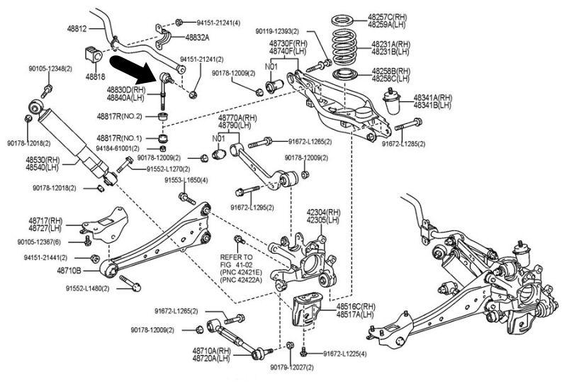 Bieleta estabilizadora trasera RAV 4 serie 3 106-02-236
