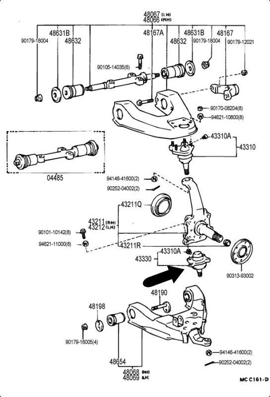 Rótula suspensión inferior 4Runner Hilux II 43330-39265