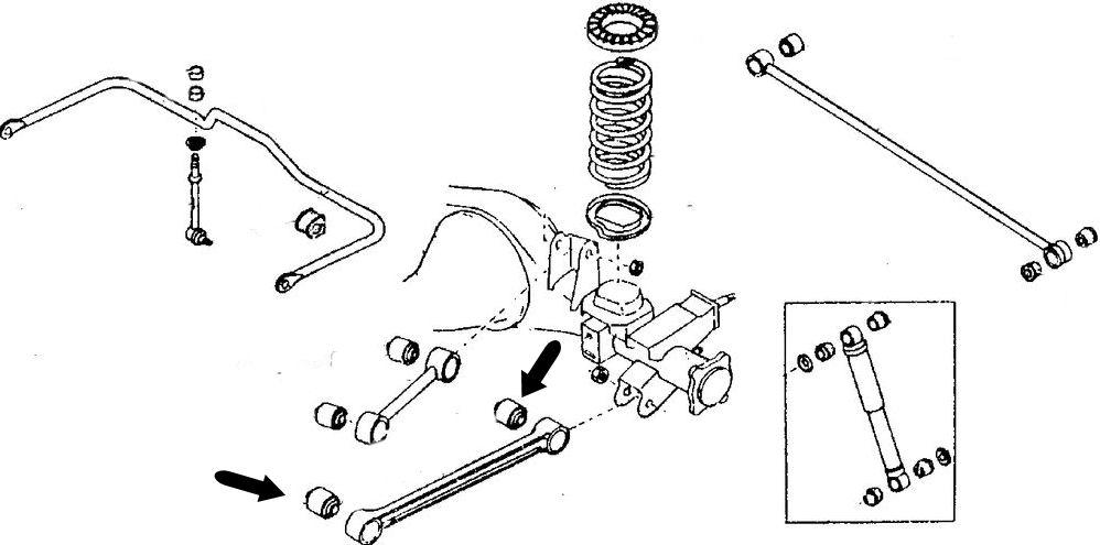 Silentblock brazo suspensión Terrano 55045-41G00
