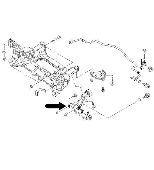 Silentblock brazo superior Nissan X-Trail T30 GOM-163