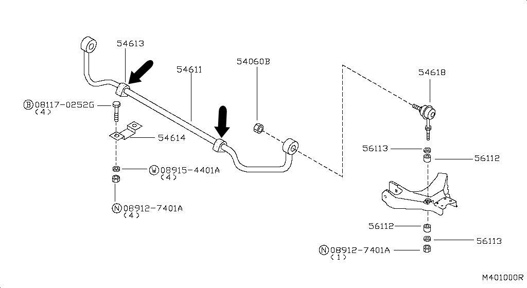 Casquillo goma estabilizadora Terrano II 54613-0X800