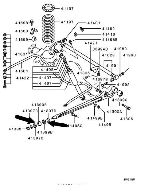 Casquillo brazo suspensión trasero Pajero Montero MB809388