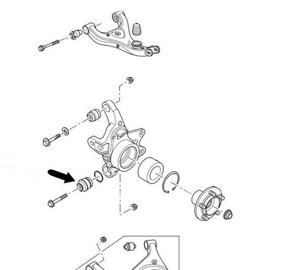 Control brazo suspensión oscilante Range Rover Sport