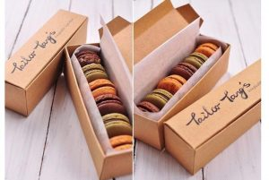 Photo of Custom Macaron Boxes in different Colored Packaging