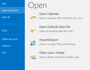 Import Resultant PST Files to Outlook