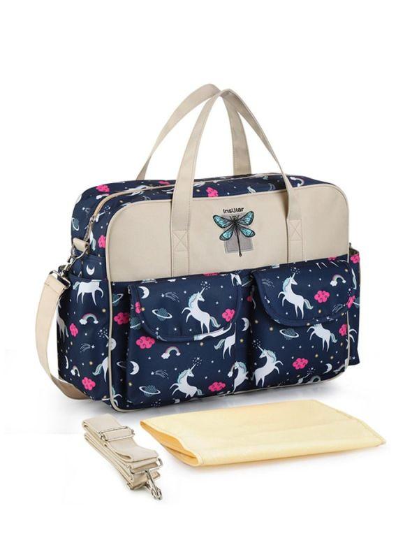 MOMMY DRAGONFLY PATTERN MESSENGER BAG