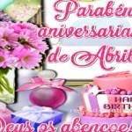 Parabéns Aniversariantes de Abril!
