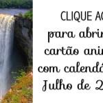 Calendário Julho de 2016