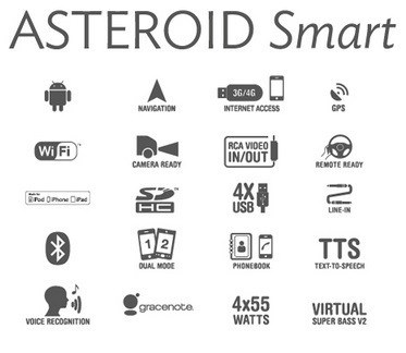 parrot asteroid smart 2din